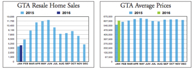 GTA Homes Sales 2016
